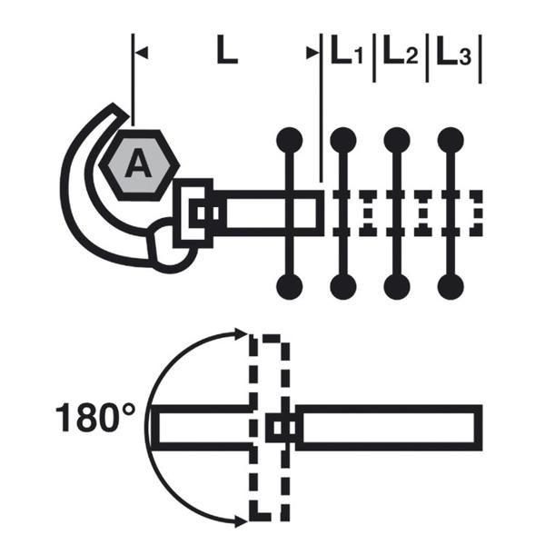 Klucz umywalkowy teleskopowy Sanicrom® VIRAX [RÓŻNE MODELE DO WYBORU]
