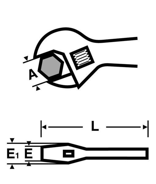 """Odwracalny klucz szczękowy VIRAX 10"""" 017032"""