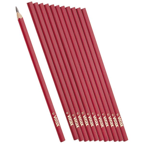 Ołówki ciesielskie 12szt. VIRAX 262700