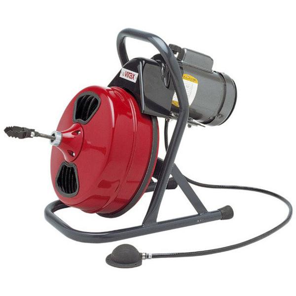 Przenośny bębnowy przepychacz elektryczny VAL 80 / VAL 80E VIRAX 291201